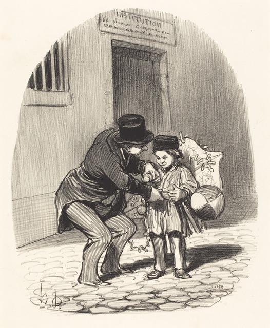 Honoré Daumier, 'Le Jour de sortie', National Gallery of Art, Washington, D.C.