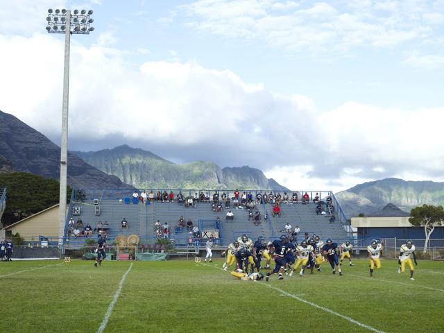 , 'Football Landscape #16 (Waianae vs. Leilehua, Waianae, HI),' 2009, Peder Lund