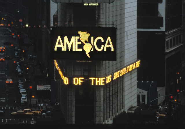 , 'Times Square, April 1987: A Logo for America,' 1987, Academy Art Museum