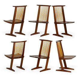 Set of six Conoid dining chairs, New Hope, PA