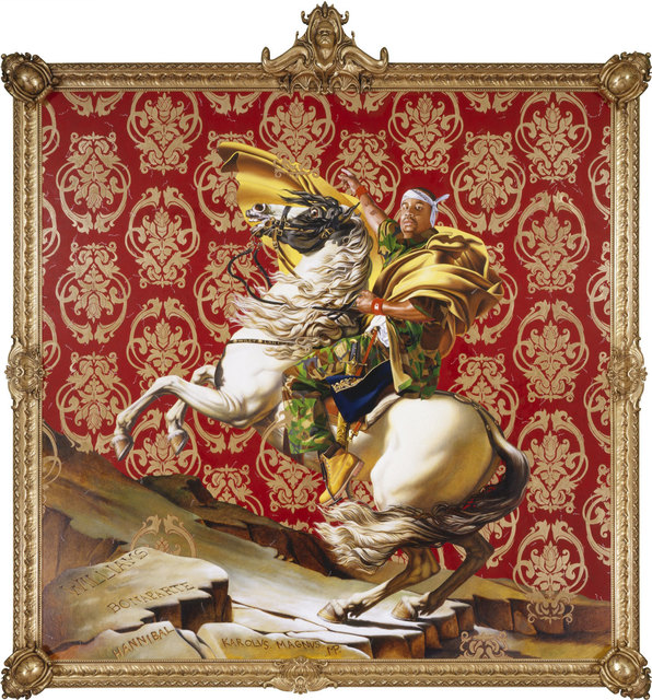 , 'Napoleon Leading the Army over the Alps,' 2005, Brooklyn Museum