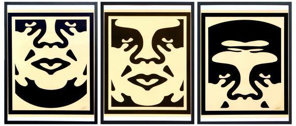 , 'Obey giant faces,' 2017, NextStreet Gallery