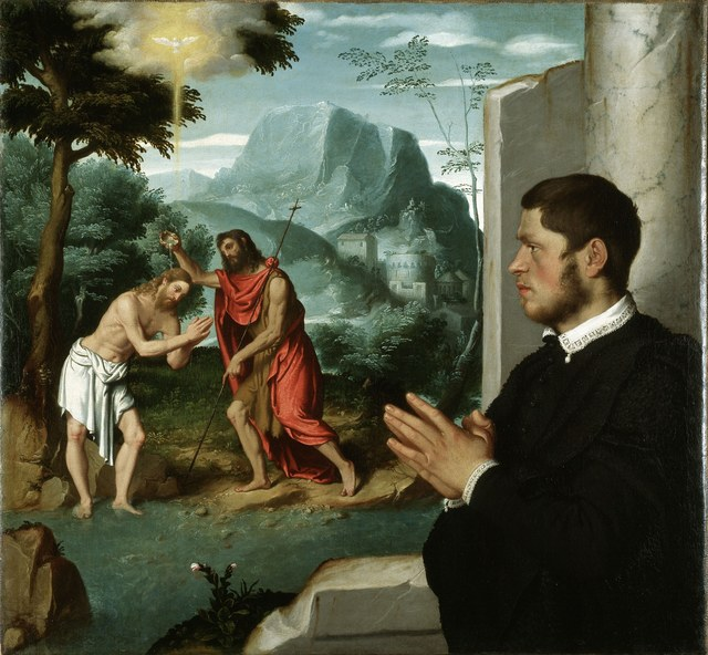 , 'A Gentleman in Adoration before the Baptism of Christ,' 1555-1560, Royal Academy of Arts