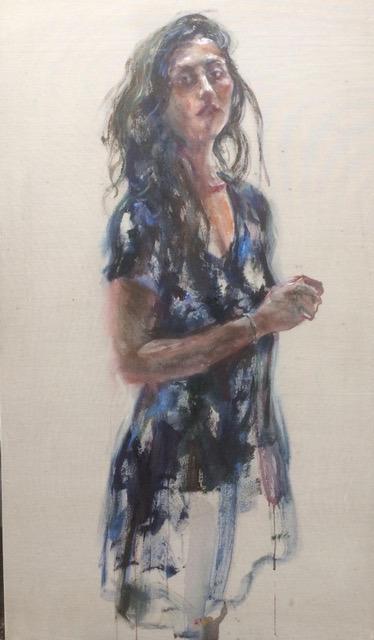 , 'Vrouw in blauwe jurk,' 2018, Galerie Van Campen & Rochtus