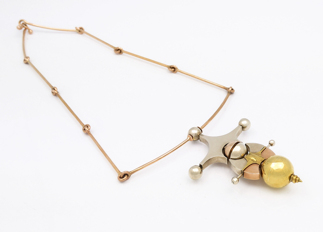 Giò Pomodoro, 'Sfere Meccaniche', 1970, Jewelry, Yellow Gold, White Gold, Pink Gold, BABS Art Gallery
