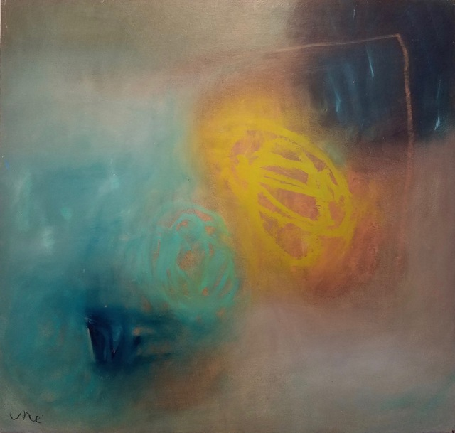 Ulla Neigenfind, 'Enigma: Aqua, Pthalo, Yellow Green', 2017, Miller White Fine Arts