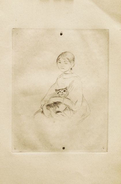 Berthe Morisot, 'Jeune Fille Au Chat', 1888-89, Sworders