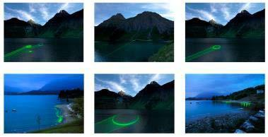 , 'En plein air wondering the alps with laser and camera,' 2011-2012, Vistamare