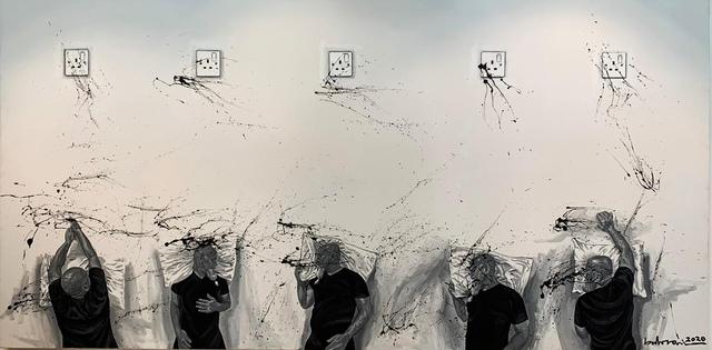 Ahmad Al Bahrani, 'Long Night / ليا ي ل طويلة', 2020, Painting, Acrylic on Canvas, al markhiya gallery