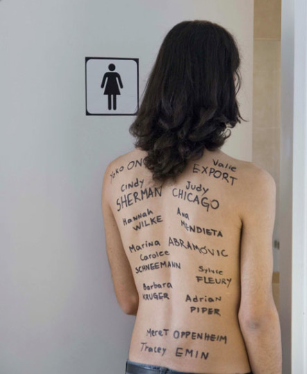 , 'A new artist needs to use the bathroom,' 2010, Cantor Fitzgerald Gallery, Haverford College