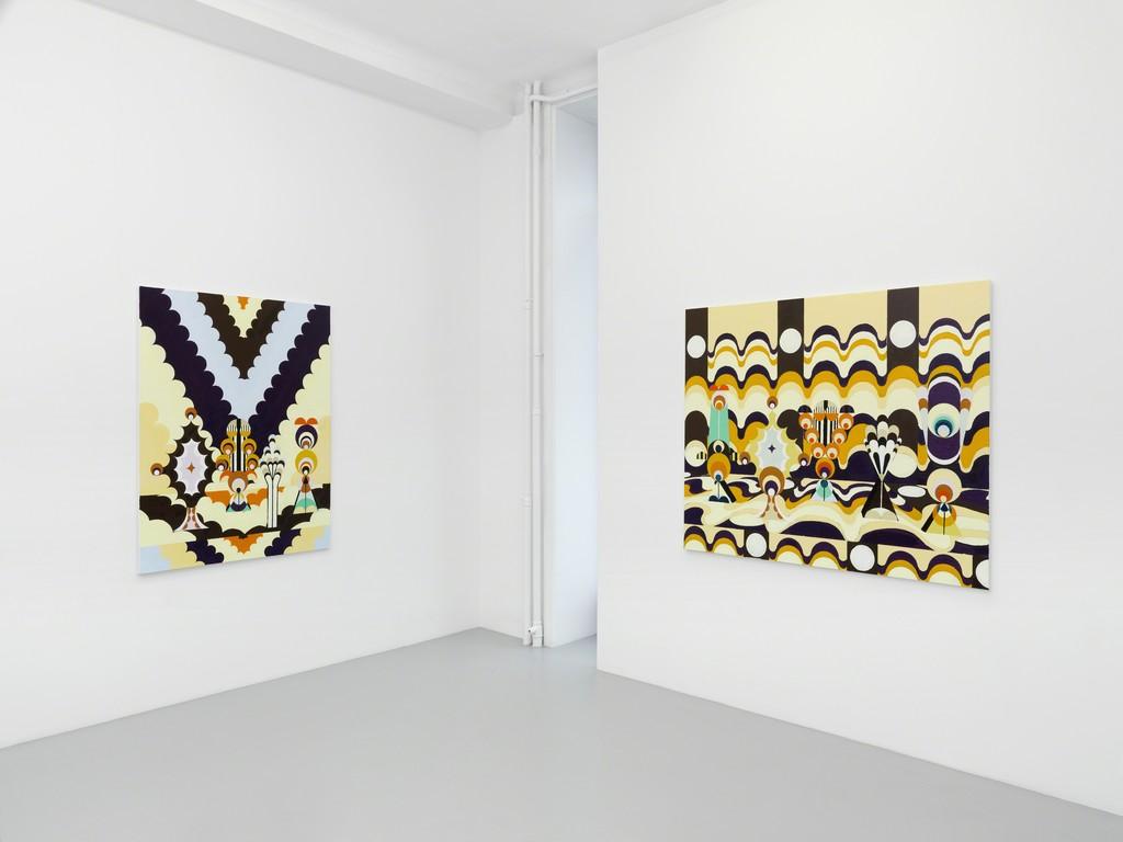 Farah Atassi, Galerie Xippas, Geneva, Switzerland, 2017. ©Annik Wetter
