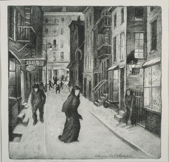 Glenn O. Coleman, 'Minetta Lane', 1928, Print, Lithograph on paper, Phillips Collection