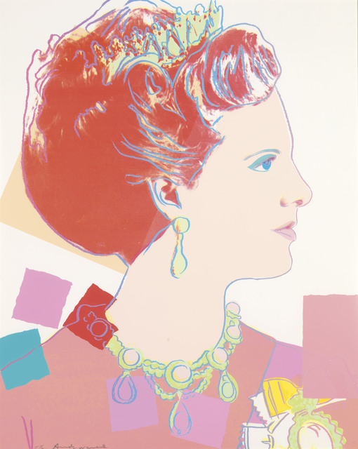 Andy Warhol, 'Queen Margrethe II, from: Reigning Queens (Royal Edition)', 1985, Print, Screenprint in colours with diamond dust on Lenox Museum Board, Christie's
