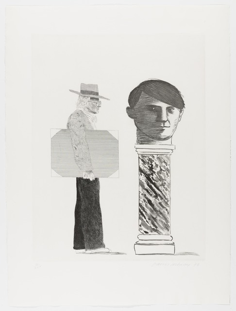 David Hockney, 'The Student: Homage to Picasso, 1973', 1973, Print, Etching, on Arches mould-made paper, RAW Editions