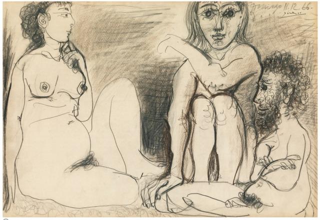, 'Trois personnages nus assis,' 1966, David Benrimon Fine Art