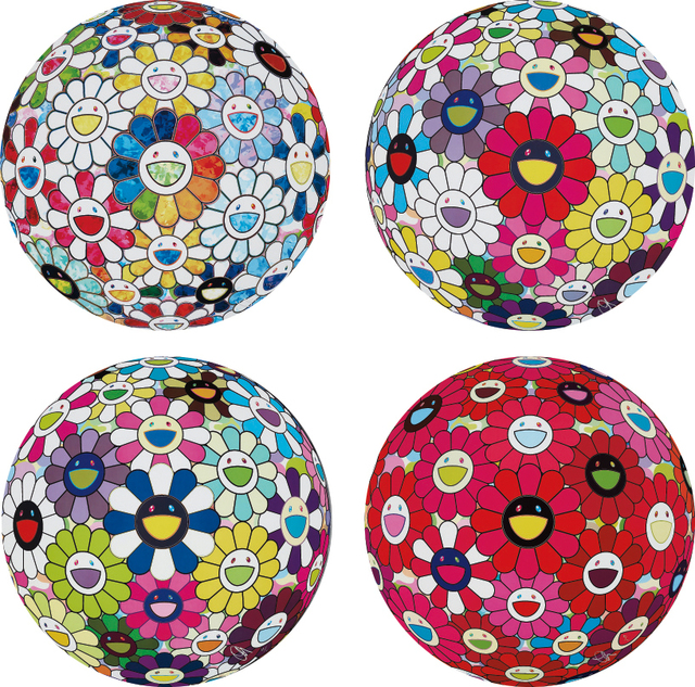 Takashi Murakami, 'Scenery with a Rainbow in the Midst; Flowerball: Open Your Hands Wide; Awakening; and Letter to Picasso', 2014; and 2015, Phillips