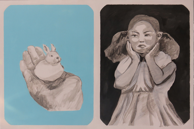 , 'A Girl and a Rabbit,' 2018, Liang Gallery