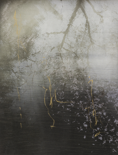 Chaco Terada, 'Monologue 3', 2019, Mixed Media, Archival pigment print on layers of silk organza with sumi ink and mineral pigments, Valley House Gallery & Sculpture Garden