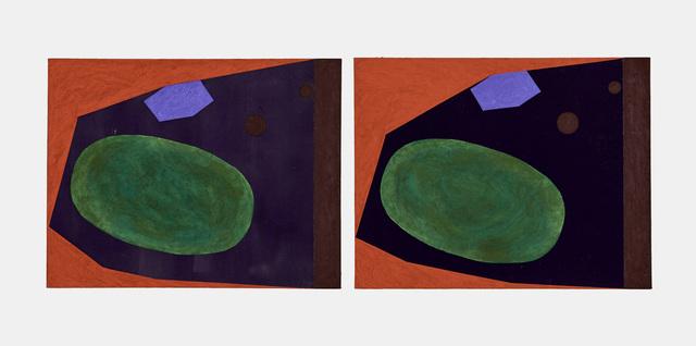 James hd Brown, 'Twin Painting #2 (7 Sided Room)', 2018, Galería Hilario Galguera