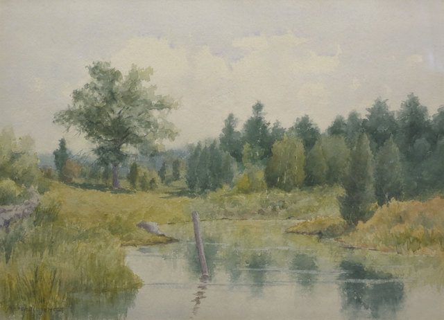 Marshall Jones, 'Post in the Creek', 19th Century, Vose Galleries