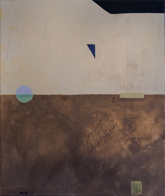 Otto Rogers, 'Floating Triangle With a Circle in a Landscape', 1998, Painting, Acrylic on Canvas, Oeno Gallery