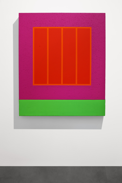 Peter Halley, 'Magenta Prison', 2001, Painting, Acrylic, Day-Glo and Roll-a-Tex on canvas, Mimmo Scognamiglio / Placido