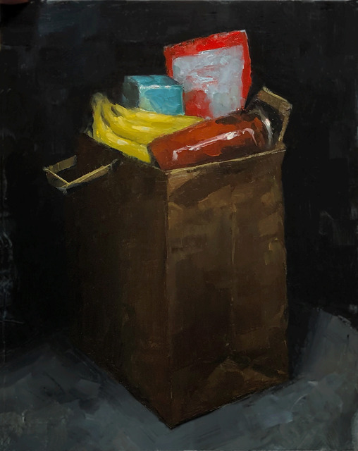 Tom Giesler, 'Health Study 23: quarantine groceries', 2020, Painting, Oil on canvas, McVarish Gallery