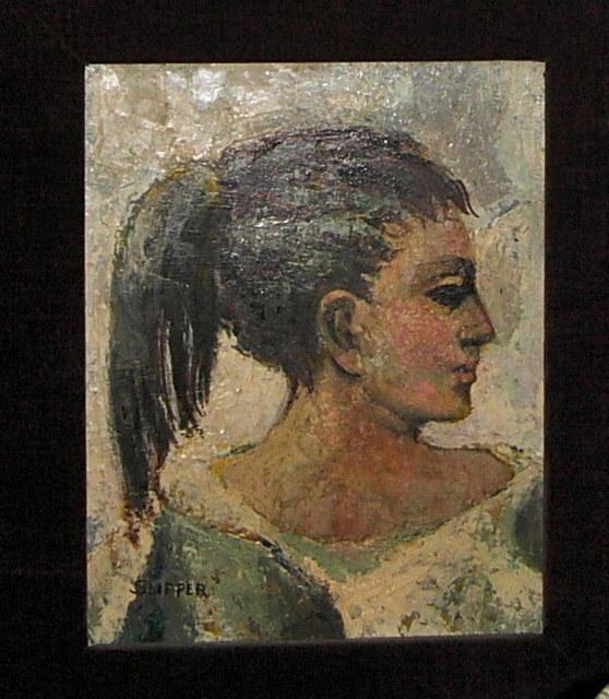 , 'Original oil painting by Gary Slipper - Side portrait of a woman,' , Arctic Experience McNaught Gallery