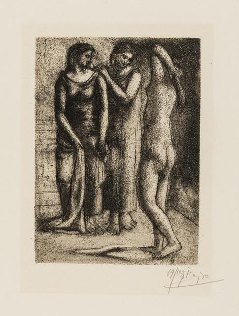 Pablo Picasso, 'Deux Femmes regardant un modele nu (Bloch 57; Baer 102 Vla)', 1923, Print, Etching, Forum Auctions