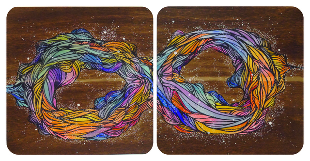 """, '""""YACHAY"""" (diptych),' 2016, Parlor Gallery"""
