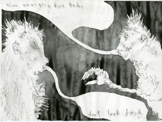 Jim Holyoak, 'Emerging from Hades', Year unknown, Drawing, Collage or other Work on Paper, India ink, bG Gallery