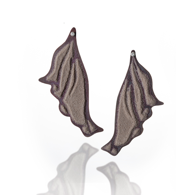 , 'Pleated I Earrings,' 2018, Mobilia Gallery