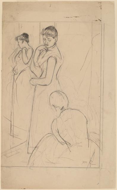 Mary Cassatt, 'The Fitting [recto]', 1890/1891, National Gallery of Art, Washington, D.C.