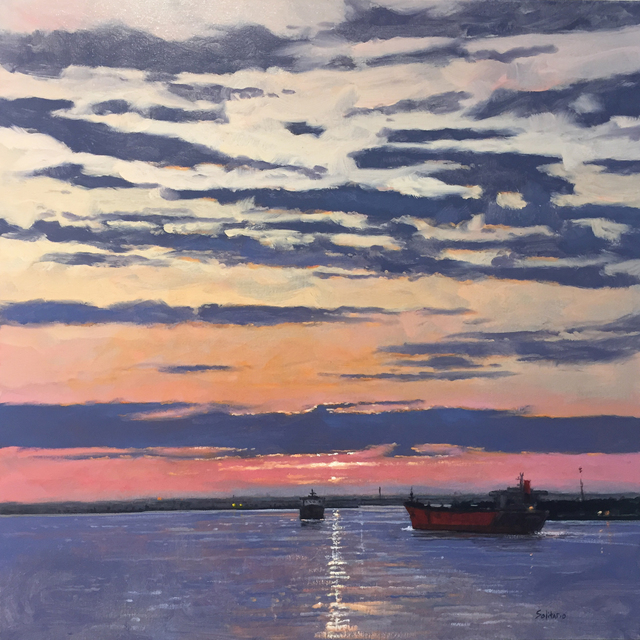 , 'Cadmium and Crimson Sky,' , LeMieux Galleries