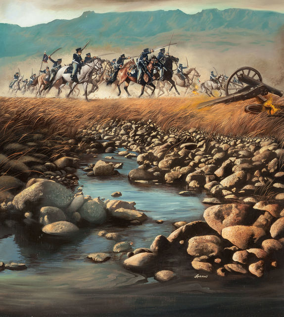 Ron Lesser, 'Ole Devil At San Jacinto', The Illustrated Gallery