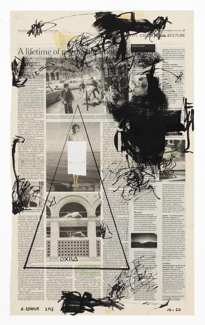 Abdulaziz Ashour, 'Forbidden #14 - The Global Edition of the New York Times – Friday - Sunday, November 17 - 18, 2013', ca. 2013, Elmarsa