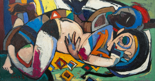 Emin Gahramanov, 'Women in Love', 2015, Janet Rady Fine Art