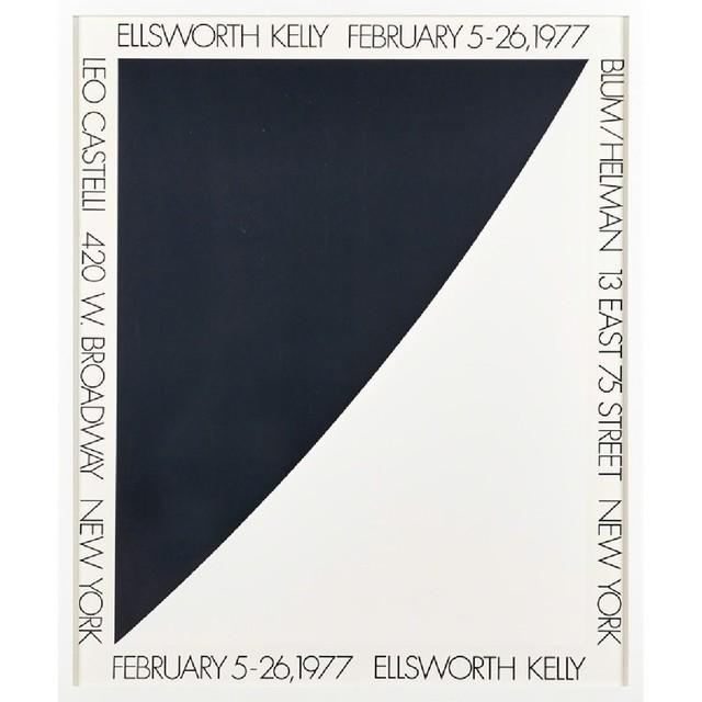 Ellsworth Kelly, 'Vintage Leo Castelli Blum/Helman Gallery Poster', 1977, Alpha 137 Gallery Auction