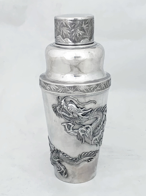 wang hing, 'Chinese Export silver cocktail shaker', ca. 1906, Sterling silver, Esmé Parish Silver