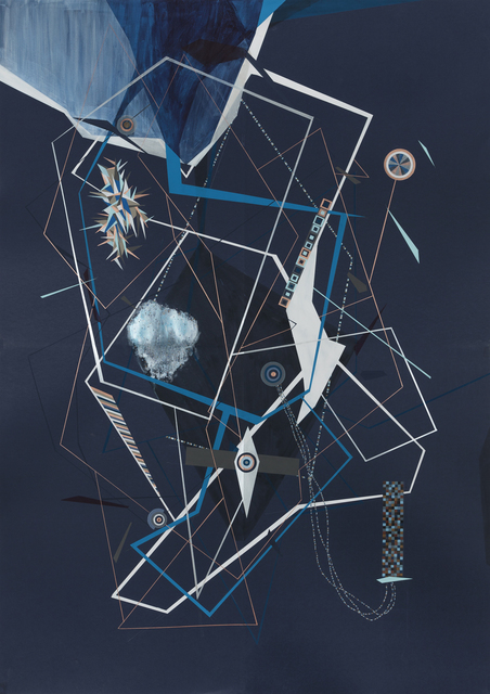 , 'Nocturnal Blue Machine Plan Universe with Method Angle Codes,' 2014, Carrie Secrist Gallery
