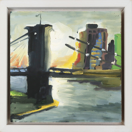 View from Manhattan Bridge (study for commute)