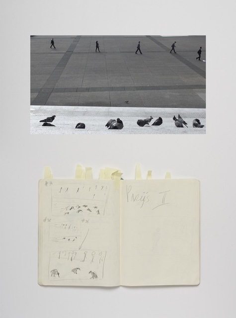 Paulien Oltheten, 'Birds and people, Notebook', 2020, Photography, Hanhnemuhle PhotoRag matt paper print - mounted on aluminium - wood frame with glass, Galerie Les filles du calvaire