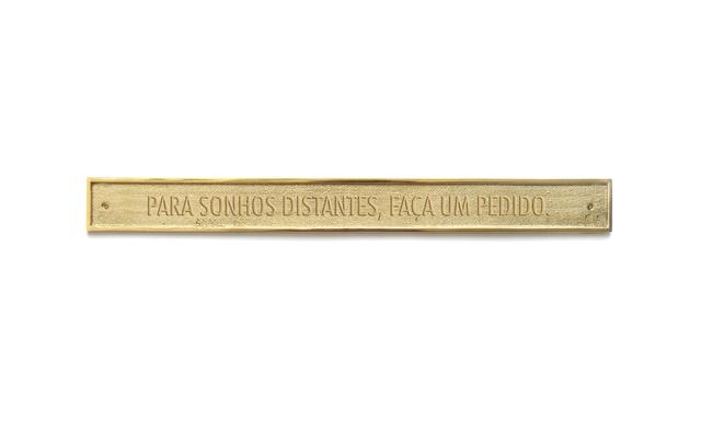, 'Para sonhos distantes, faça um pedido [For distant dreams, make a wish],' , Luciana Caravello Arte Contemporânea