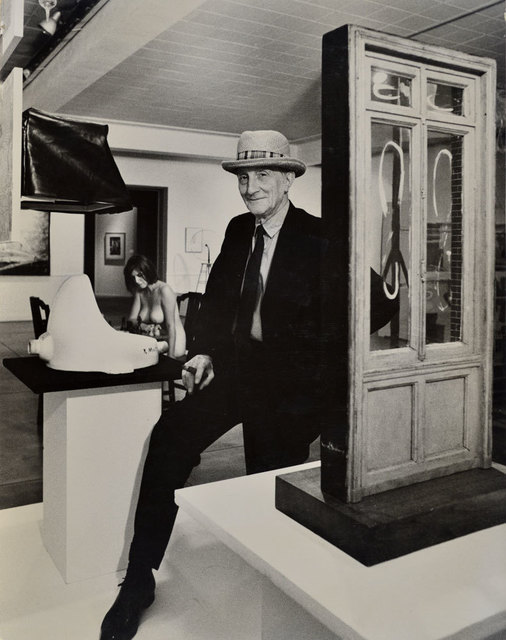 , 'Duchamp with Straw Hat and Eve Babitz pondering the Chess Game in the background, Duchamp Retrospective, Pasadena Art Museum,' 1963, Robert Berman Gallery