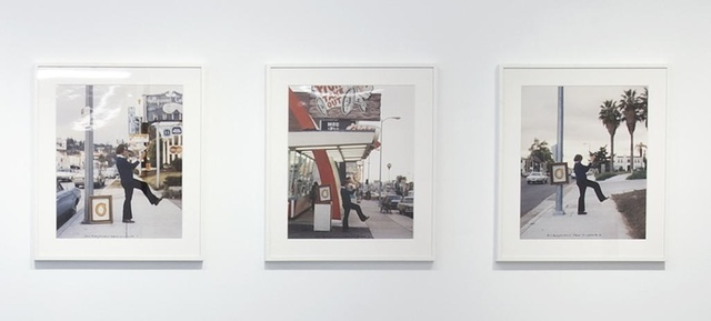 Ger van Elk, 'The Co-Founder of the Word O.K. - Hollywood', 1971, Photography, Two sets of 3 colour photographs: one vintage, dated and printed 1971, one dated 1971, printed 2002, Richard Saltoun