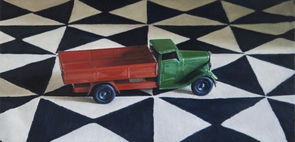 Toy Truck on a Printed Cloth