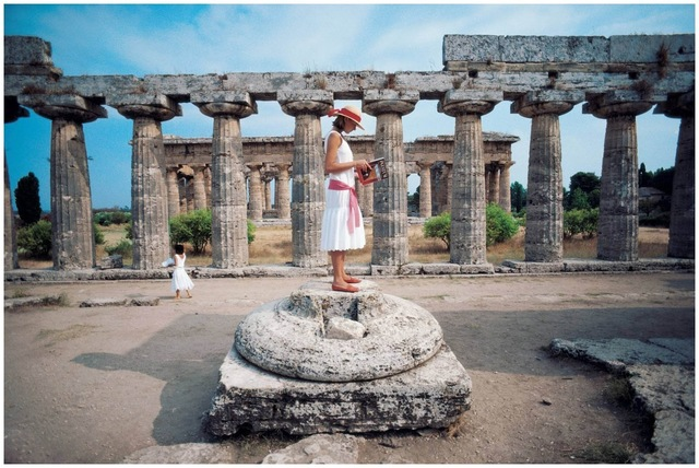 Slim Aarons, 'Laura Hawk, Paestum, Gulf of Salerno', 1984, IFAC Arts