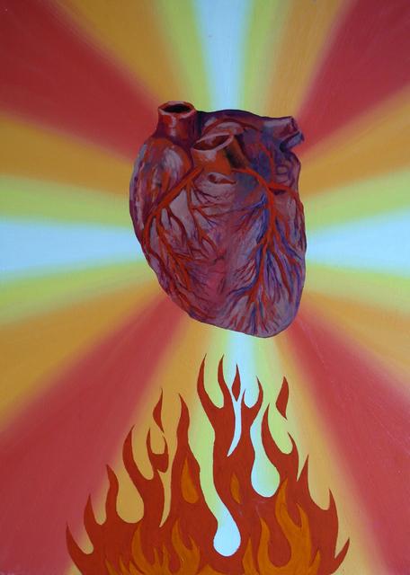 """, '""""Heart on fire"""",' 2017, Krokin Gallery"""