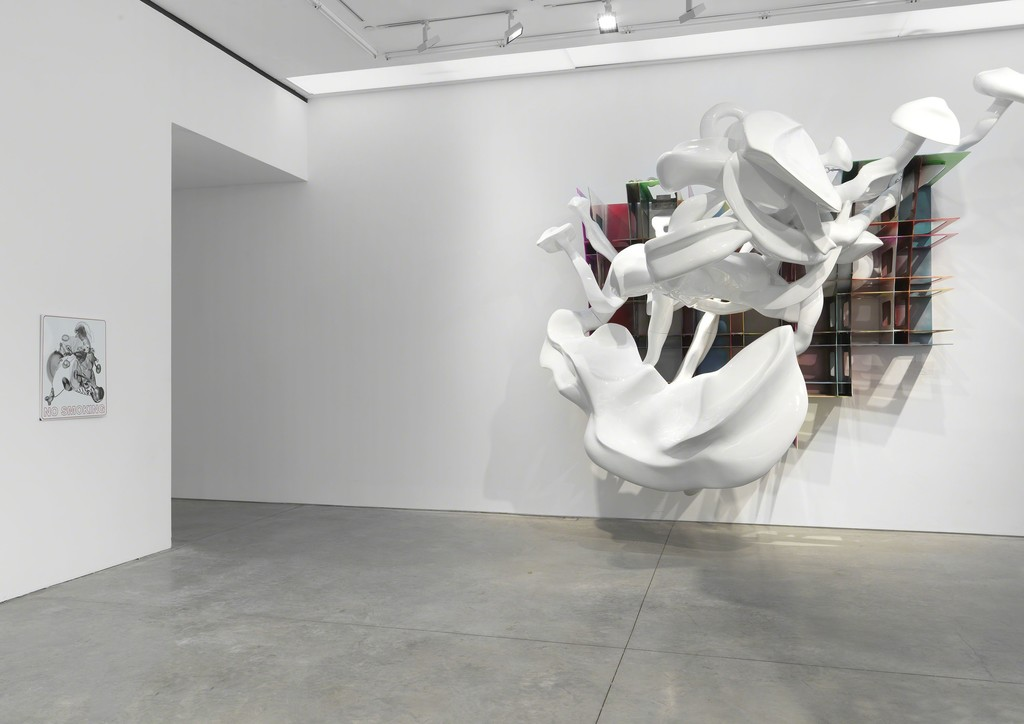 Installation view © 2019 Frank Stella / Artists Rights Society (ARS). Photo Credit: Object Studies.
