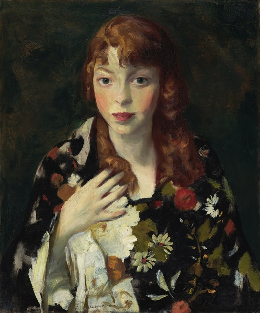 Robert Henri, 'Edna Smith in a Japanese Wrap', ca. 1915, Indianapolis Museum of Art at Newfields